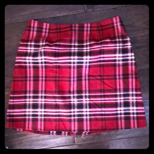 Design Lab Lord & Taylor Skirts - Plaid red skirt